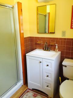 Master en suite half bath with shower