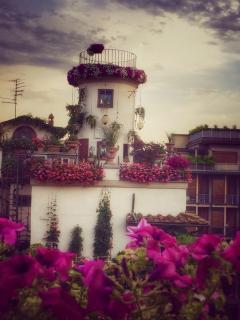 Terrazza con vista la Torre di Giovanni da Verrazzano