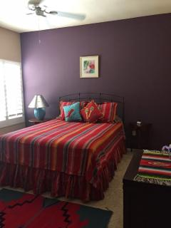 2nd Bedroom with Queen bed and walkin closet