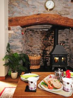 Holiday cottage with log burner mid Wales- lounge