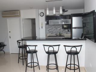 Hang out at the bar for breakfast in the morning...fully equipped kitchen with granite tops