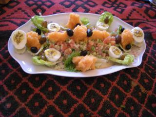 Salade comme entreé repas de midi.