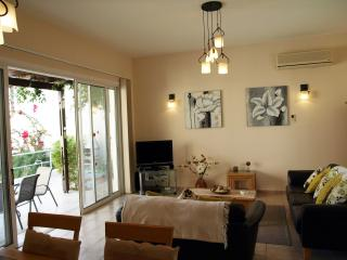 Lounge with large patio doors to garden