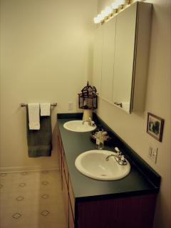 Main floor bath with double vanity
