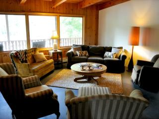 Relaxing in the Great Room overlooking the majestic Clark Fork River.