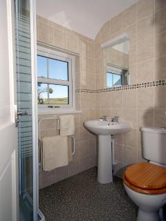 Strumble Head holiday cottage - master en-suite shower