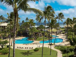 Ground Fl.Ocean View, KBR, Two beds, Free WiFi, Lihue