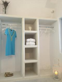 One of 3 walk in closet areas