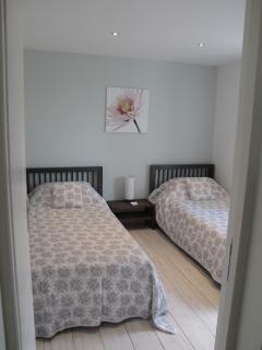 The second, twin bedroom. Both beds with tempur mattresses