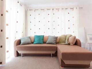 Full height corner windows, Comfortable Sofa-bed