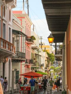 Visit Old San Juan, a walk or trolley ride from your holiday rental