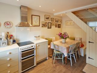 The Kitchen with built in seating area