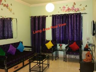 Goa Rentals 3Bhk Fully Airconditioned pool facing ground floor, Calangute