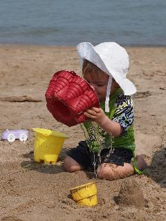 Sandy beach ideal for children