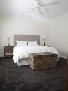 The very comfortable king beds in both bedrooms at GG's By The River.