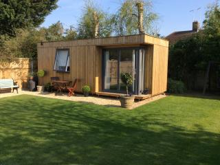 The Lodge 200, now with a private summer house behind for lodge guests, Ringwood