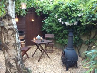 Private garden for lodge guests to use, great place for a relax and a bottle of wine