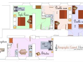 This is the map of Respighi Rooms