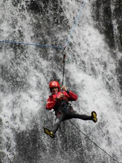 Canyoning at the nearby watersports centre.