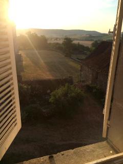 vue matinale depuis une des chambres de l'étage