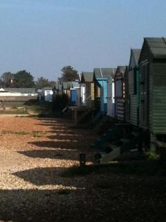 Whitstable's West Beach is just a few minutes walk from Heron House.