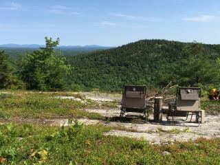 Hike-in yurt on top of Maine mountain, Orland