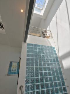 Large glassy skylight