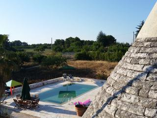 Trullo Pietro - traditional 5 cone trullo with pool in Martina Franca, Puglia