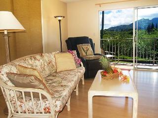 Bali Hai sunsets and waterfall views from this top floor corner, Princeville
