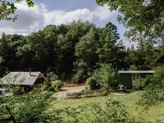 Souters Barn and Gribbles Shepherds Hut in romantic, peaceful woodland setting