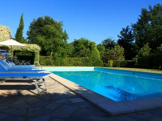 The tuscan dream. The refreshing water of the pool and the chilled shaded areas to lay in.