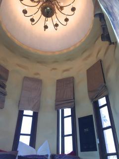 ceiling of turret bedroom