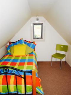The upstairs loft bedroom