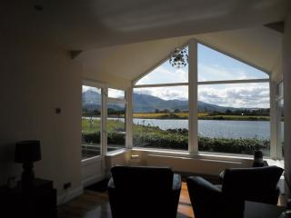Large hall/sunroom with amazing views of the Mournes and the ever-changing tide and wildlife