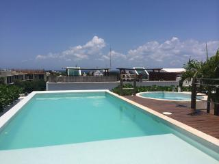 New condo: rooftop pool & jacuzzi, priv. terrace, Playa del Carmen