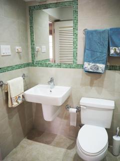 Ensuite bathroom, with second door to living room