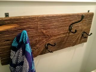 Reclaimed barnboard was has been used throughout the cottage from a local barn.