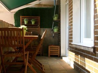 La otra parte de la terraza de 14m2 (tomar el sol también es posible)