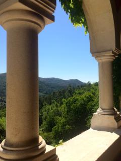 The view from the balcony in the main communal area
