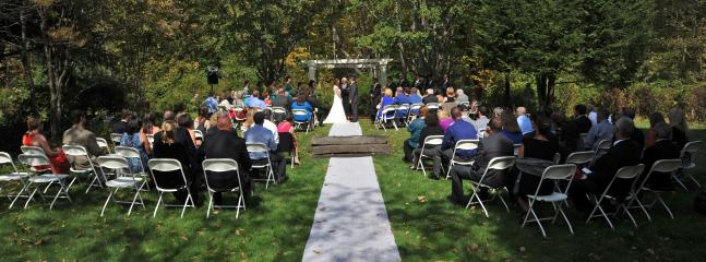 Wedding Ceremony in our Secret Garden