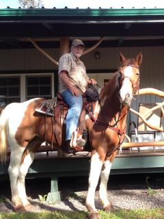 Horseback riding is not available to quests but Roby is often seen saddling up for a morning ride.