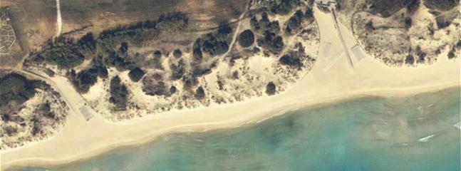 la spiaggia di Pescoluse dall'alto