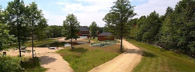 Swim beach at Little Pond Lodge