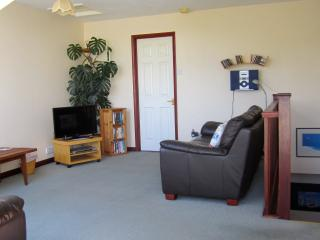 Relax on the leather sofas with the Free Wi-fi, smart TV, DVD, CD, books or games