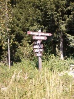 signposts for bikers