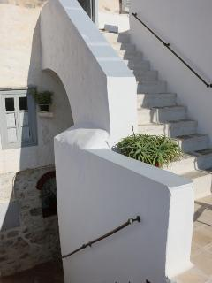 Stairs to the terrace