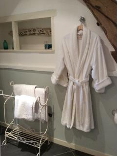Luxury bath robes available to use