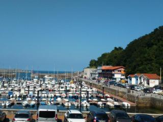 Vistas desde el apartamento: puerto deportivo, cofradía, escuela de buceo