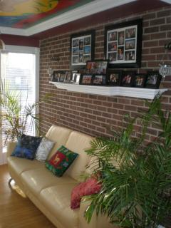 Seating couch in sun room