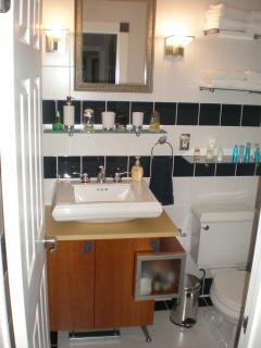 Hallway bathroom for guest